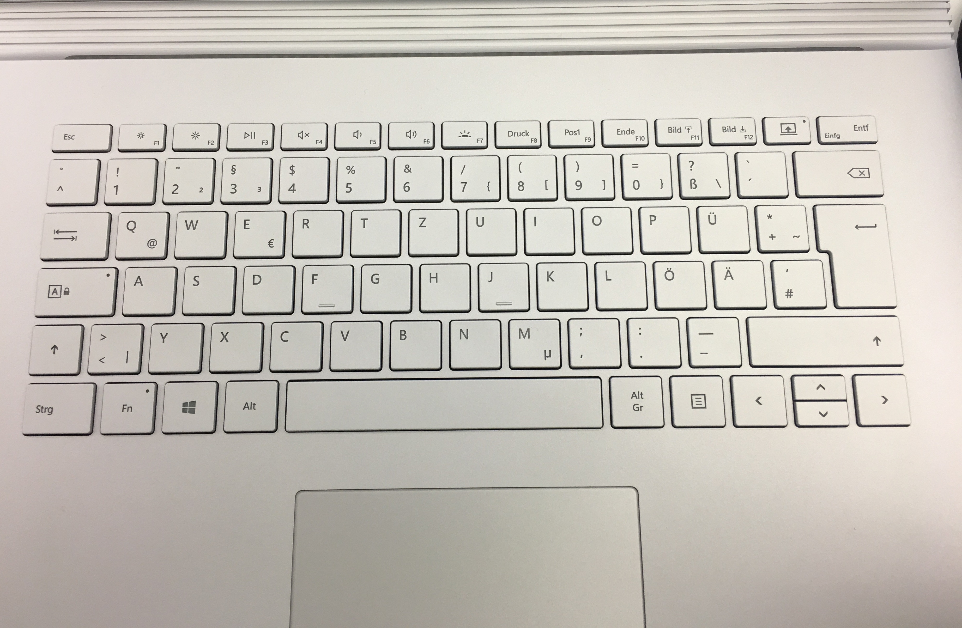 Surface Book 2 Space Bar not centered