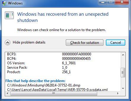 problem event name bluescreen os version microsoft community