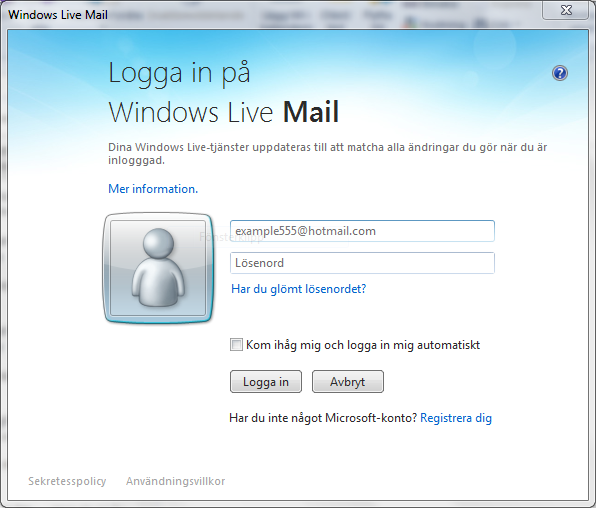 Windows Mail Logga In