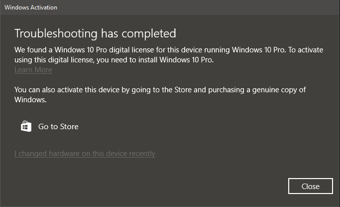 Windows 10 pro digital license has suddenly deactivated this clearly makes no sense since i have the digital license for windows 10 pro have windows 10 pro installed i also tried clicking i changed hardware ccuart Image collections