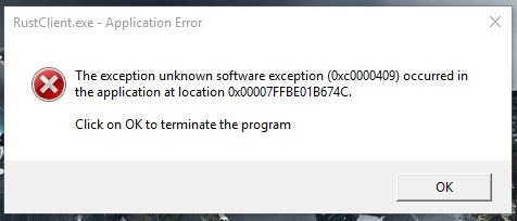 The exception unknown software exception - Microsoft Community