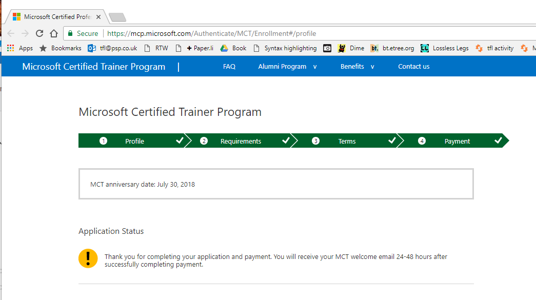 Trying To Renew Get Last Years Acceptance Training Certification