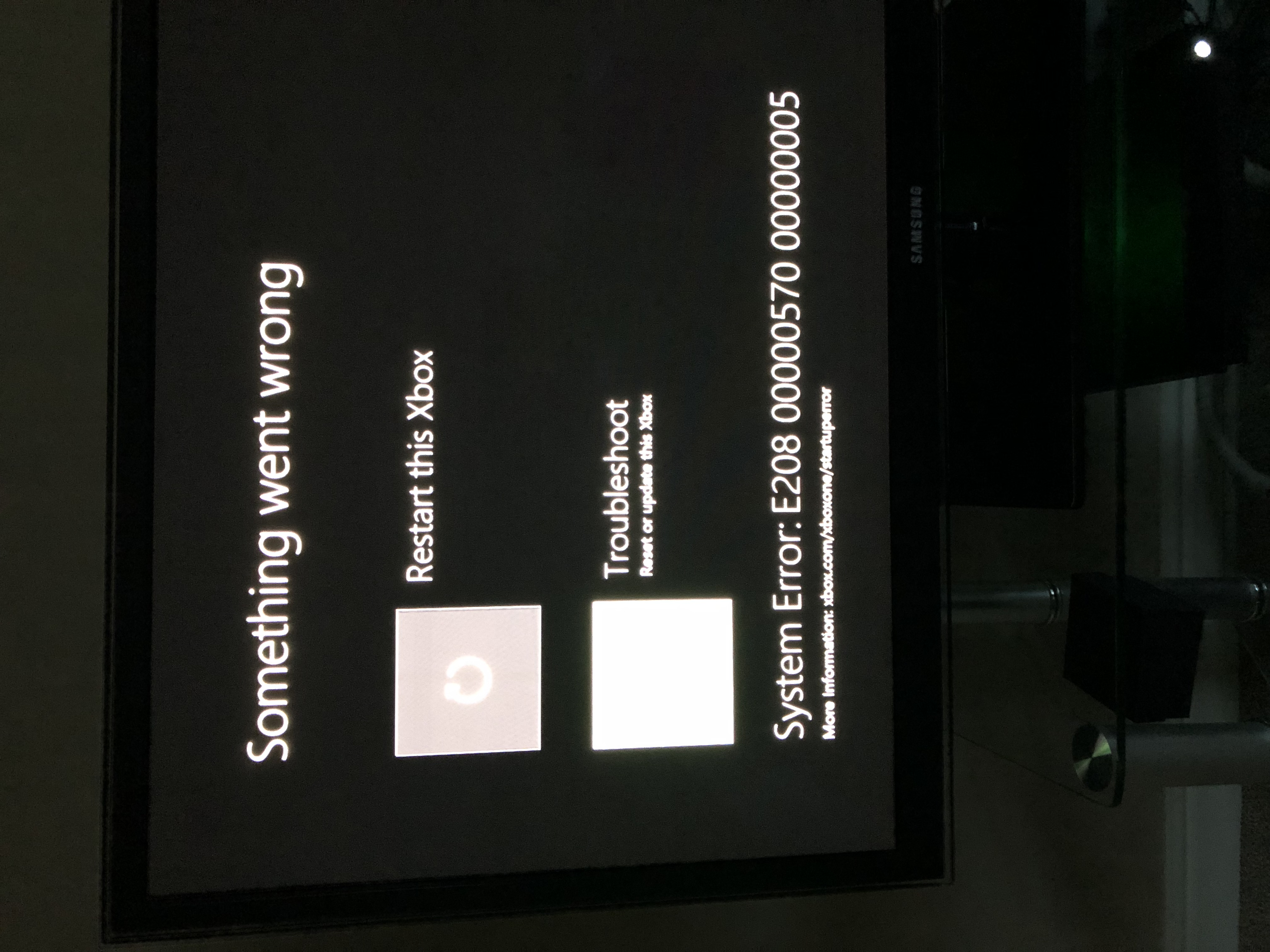 Start up error E208 00000570 00000005? - Microsoft Community