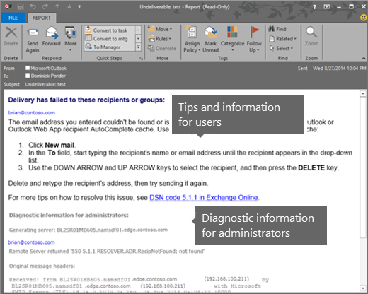 Error: Message failed: 554 5 2 0 - Microsoft Community