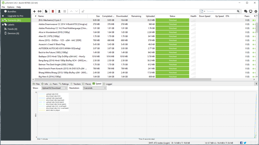 what is the latest version of utorrent