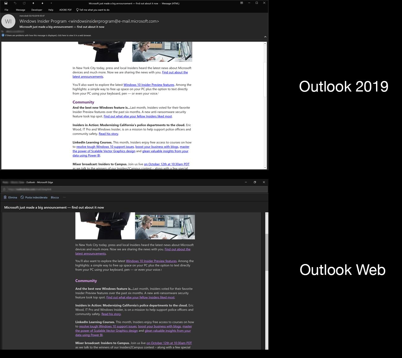Modificare sfondo mail outlook