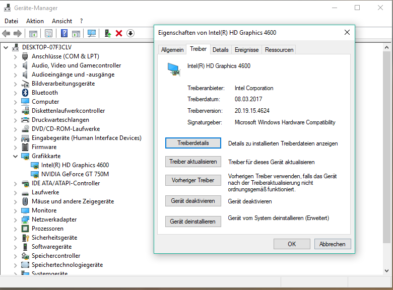 microsoft basic display driver windows 10 deaktivieren