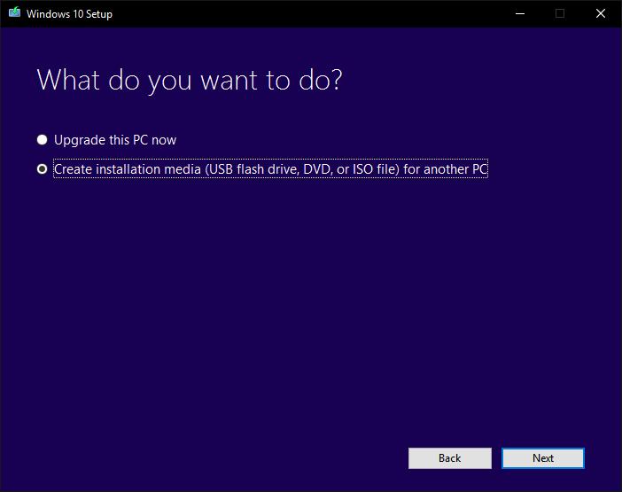 create iso windows 10 software