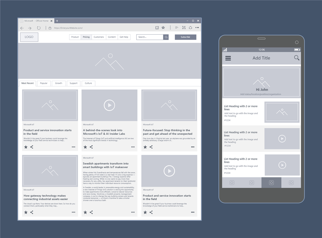 New Visio Wireframes: Bring your products to life