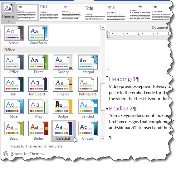 theme colors in a document word 2016 microsoft community