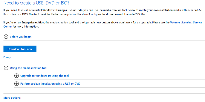 Re-installing Windows 10 after returning to Windows 7