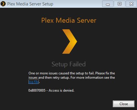 Install errors, Access is denied: 80070005 - Microsoft Community