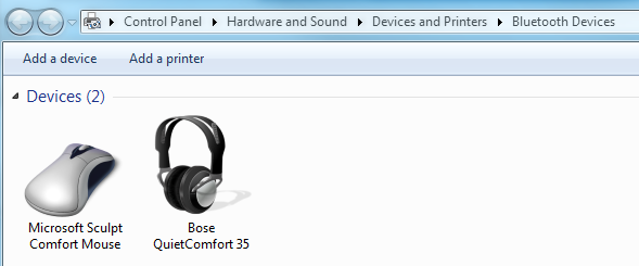 Bose QuietComfort 35 not working on Windows 7 (64bit - Microsoft