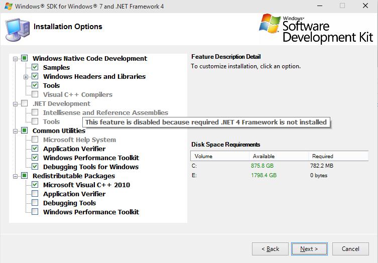 Windows sdk 71 setup could not find the file winsdk_amd64