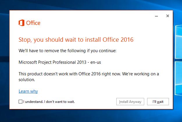microsoft project 2013 install error