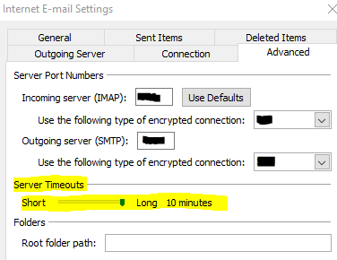 IMAP error code: 0x800CCCDD - Microsoft Community