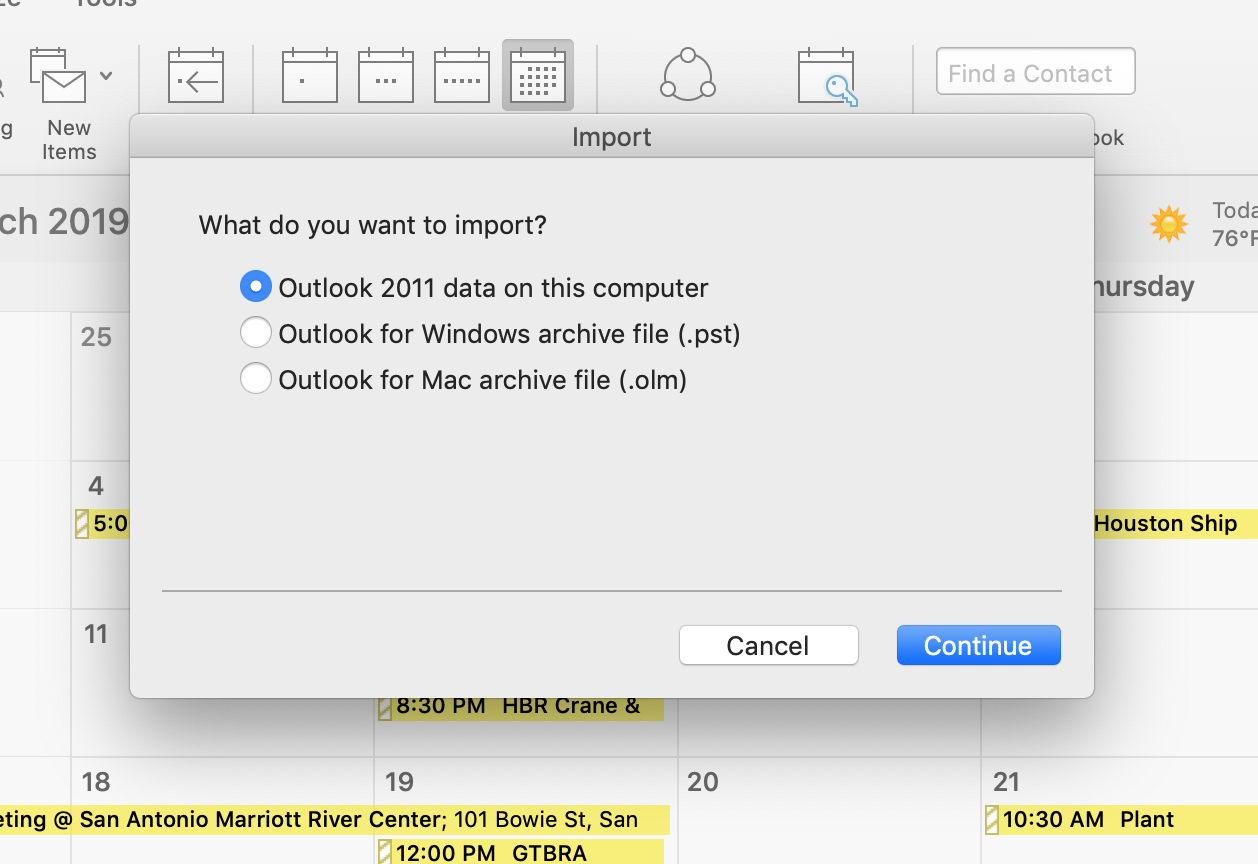 Import excel ( xlsx or  csv) into outlook calendar
