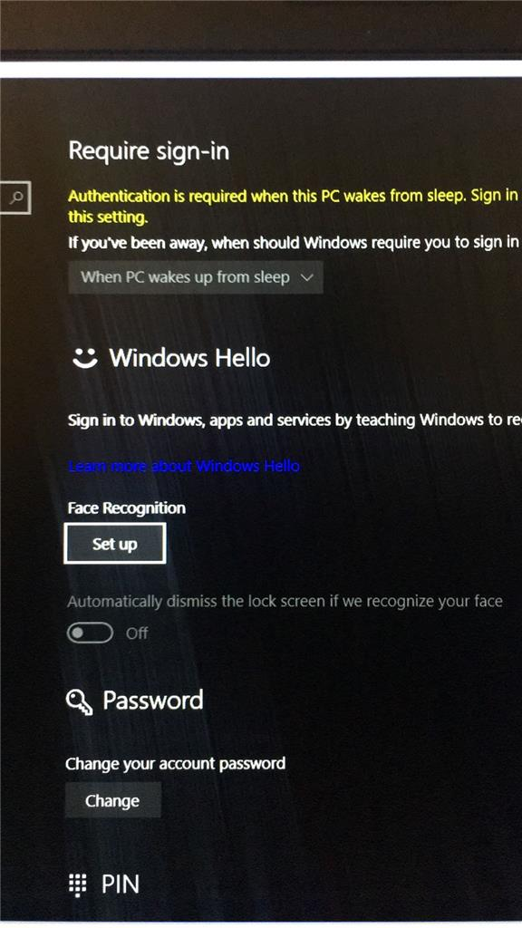 Windows Hello won't turn off, poor facial recognition