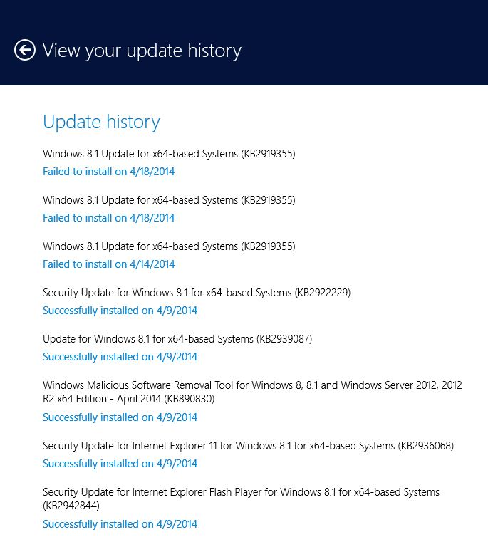 How Do I Fix The Failed Install Of The Windows 8 1 Update