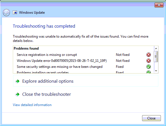 Windows Update Fixit >> Windows 7 Checking For Updates Never Ends Microsoft Community