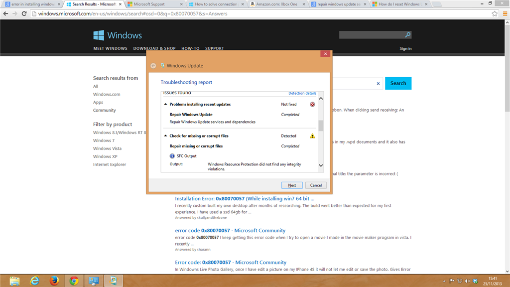 windows 8 update failure to configure reverting changes
