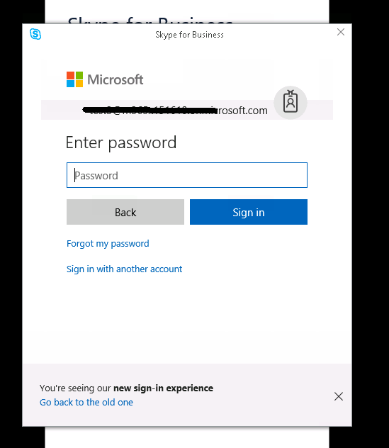 Skype for Business Sign-In Issue - Microsoft Community