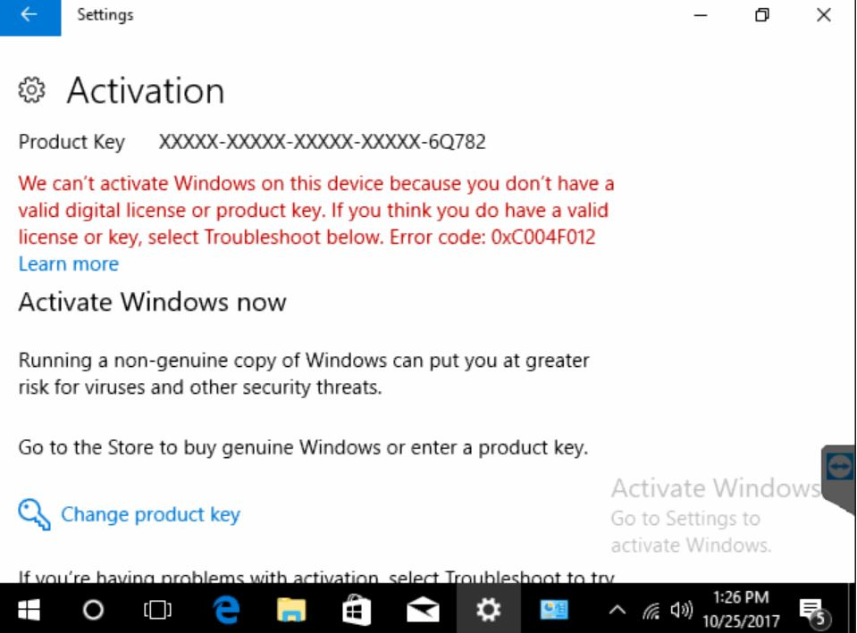 microsoft activation key error code 0xc004c008