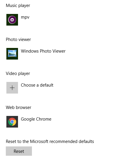 Choose a default in System Settings? - Microsoft Community