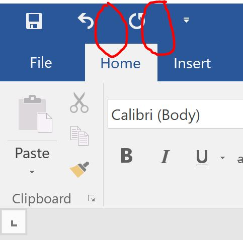 Can't find drop down next to Undo Button and Redo Button