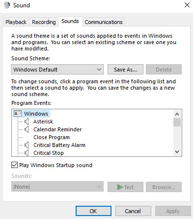 Windows 10 Startup Sound is not working when Notebook boots after a