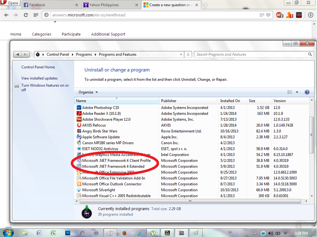Windows 8: enable. Net framework 3. 5 (includes. Net 2. 0 and 3. 0.