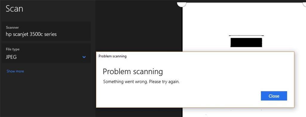 Windows 'Scan' (Scanner software) no longer works - Microsoft Community