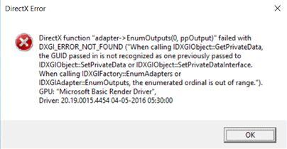 DirectX Error causing Fifa 17 crash on loading - Microsoft Community