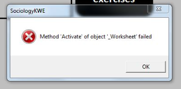 Method 'Activate' of object'_Worksheet' failed - Microsoft ...