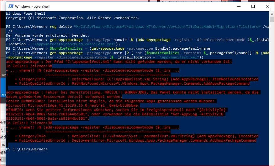Fehlende Apps nach dem Windows 10 Creators Update