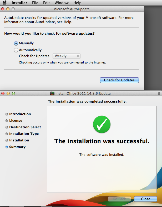 Office for Mac 2011 Update 14 3 6 - Critical Update keeps