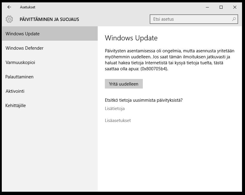 Windows 7 Päivitys Ei Onnistu