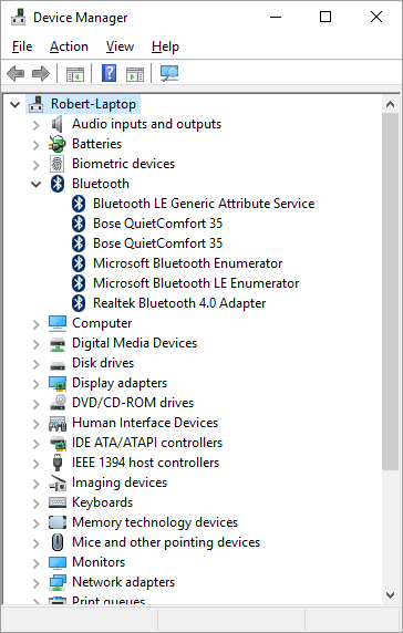 Bluetooth Disconnected in the Sound Playback Devices on