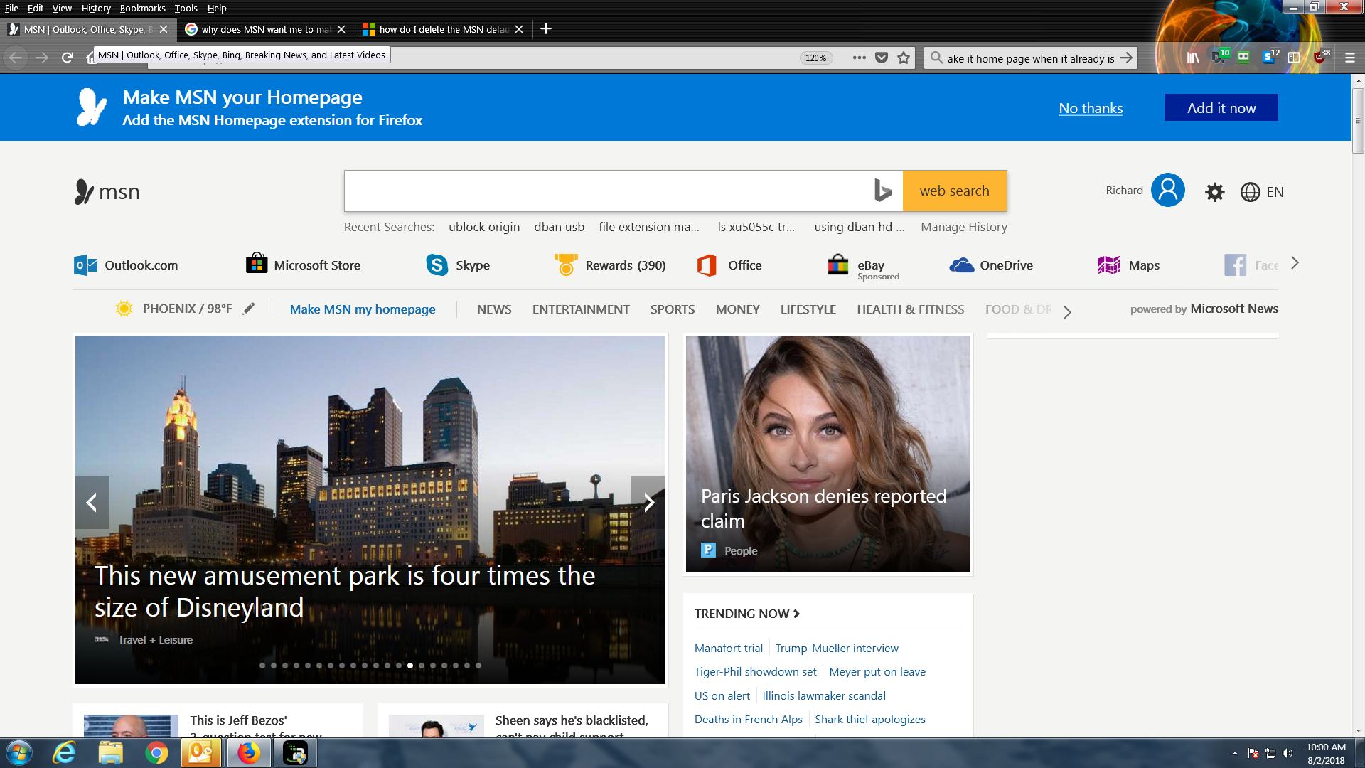 MSN homepage for Firefox - Microsoft Community