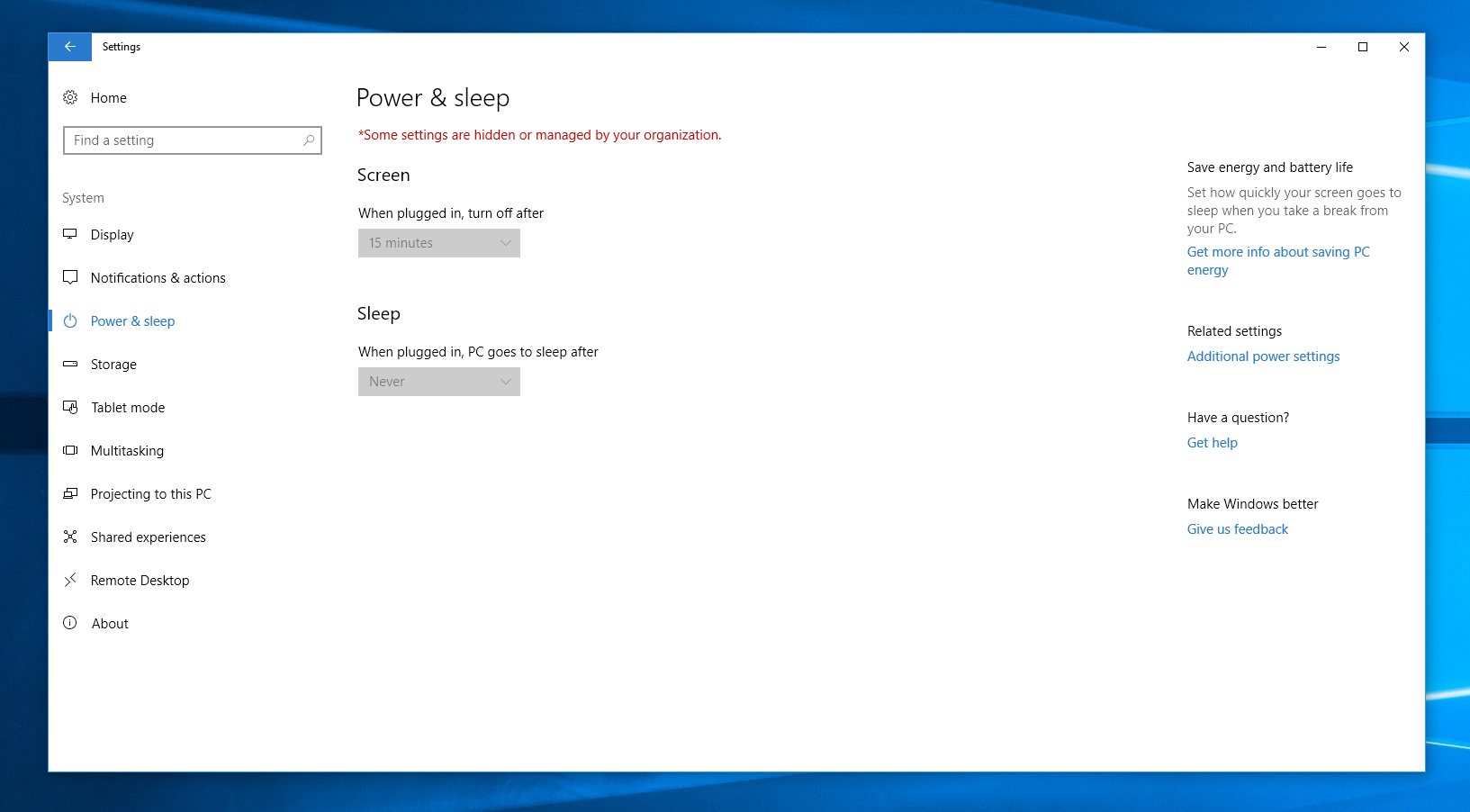 Unable to change power settings windows 10 even though microsoft image ccuart Choice Image