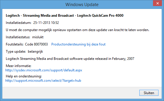 Logitech Quickcam Pro 4000 Webcam Installation In Windows 8 1