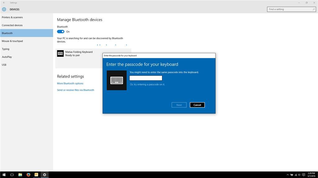 windows 10 asking to set up pin