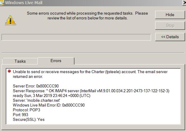 Windows Live Mail Error Id 0X800Ccc78 Server Error 550 \u2022\u2022▷ SFB