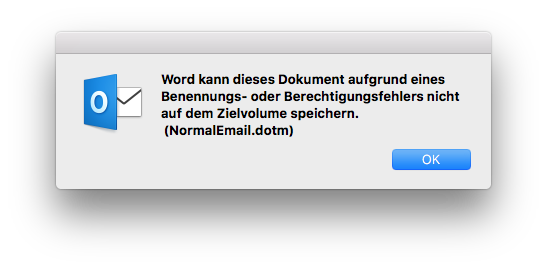 normalemail dotm error when closing outlook