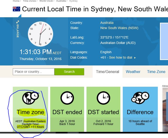 The Current Australian Time Zone in the internet is different from ...
