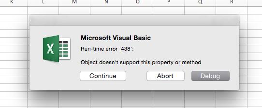 Macros Application Tool Bar In Excel 2016 Error Please Help