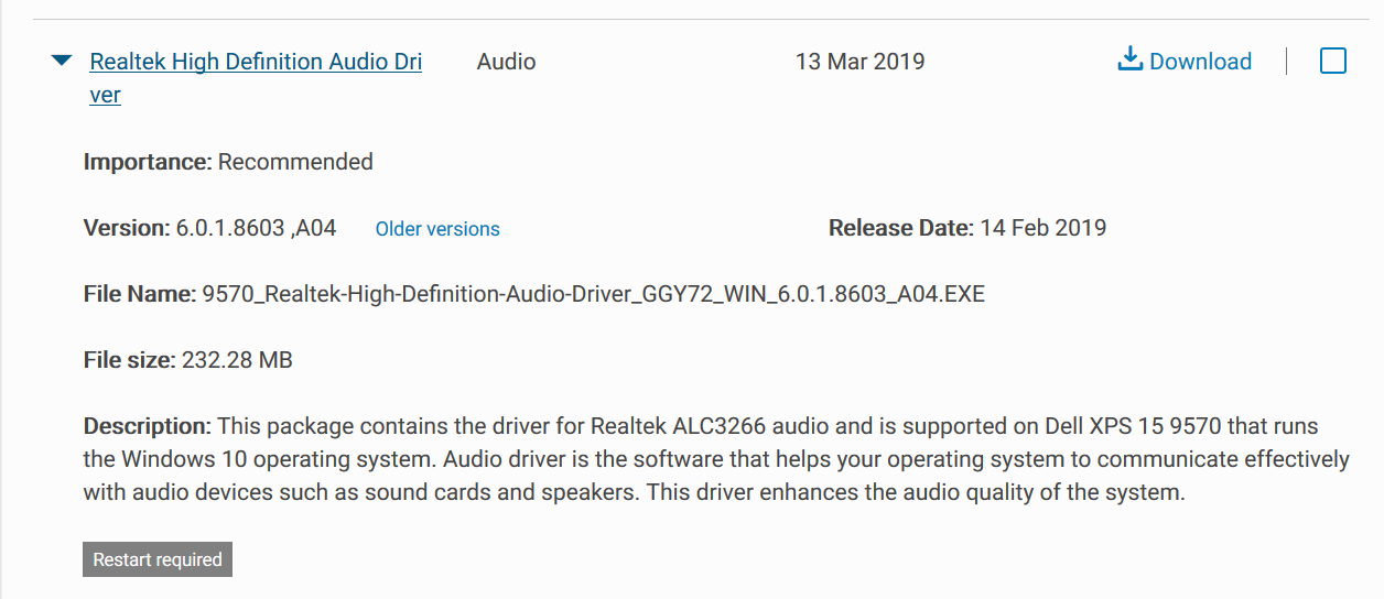High Definition Audio Device drivers missing - Microsoft