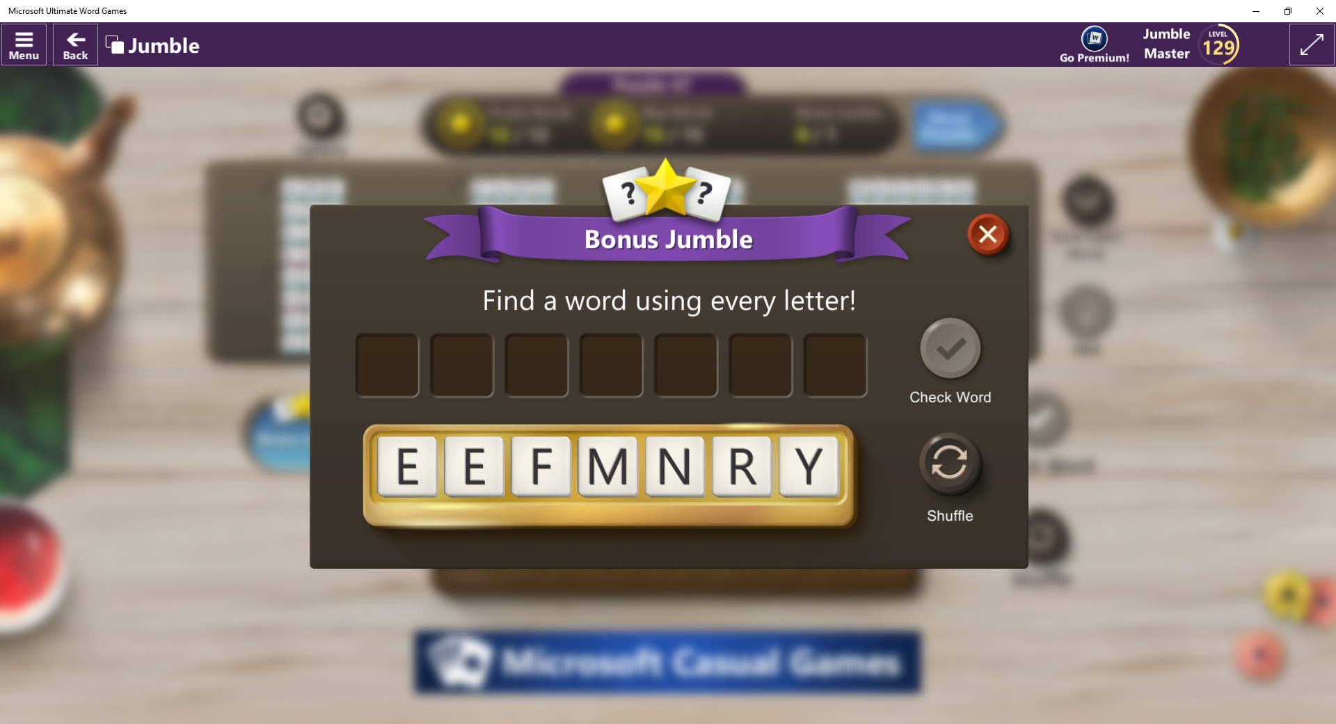 Microsoft Ultimate Word Games - Word Jumble puzzle unsolvable [IMG]