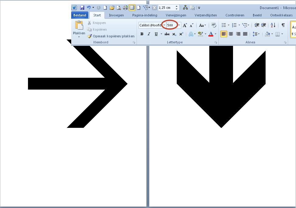 insertion d u0026 39 une fl u00e8che dans un document word