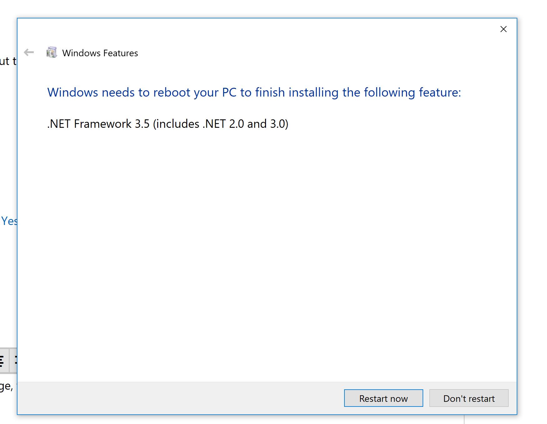 Can't install/enable .NET 20.20 Framework   Microsoft Community